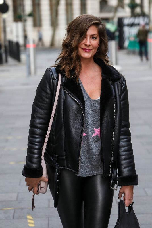 LUCY HOROBIN Arrives at Global Radio in London 11/26/2020