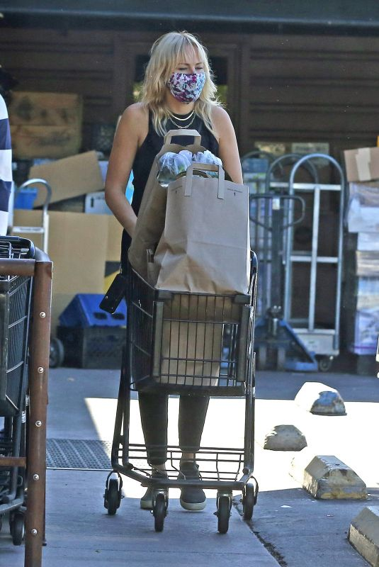 MALIN AKERMAN Out Shopping in Los Feliz 11/17/2020