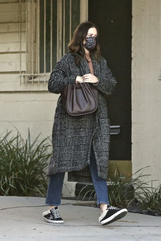 MANDY MOORE Out and Aboout in Los Angeles 11/08/2020