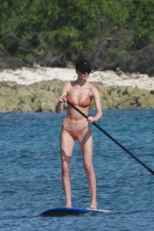 MARTHA HUNT in Bikini Paddleboarding in Tulum 11/12/2020