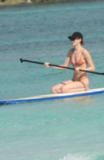 MARTHA HUNT in Bikini Paddleboarding in Tulum 11/12/2020
