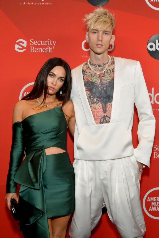 MEGAN FOX and Machine Gun Kelly at American Music Awards 2020 in Los Angeles 11/22/2020