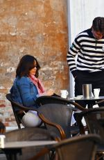 MELANIE SYKES and Riccardo Simionato Out Kissing in Venice 11/18/2020