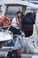 MICHELLE KEEGAN on the Set of Brassic in Wales 11/23/2020