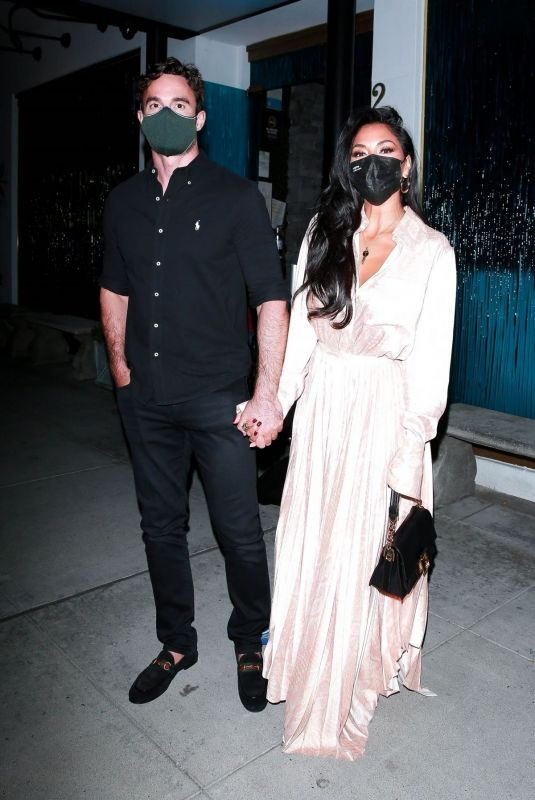 NICOLE SCHERZINGER and Thom Evans Out in Beverly Hills 11/06/2020