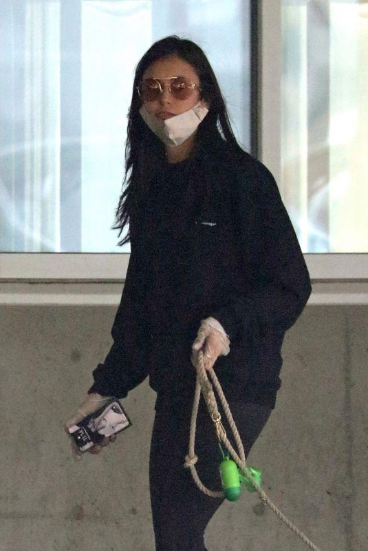 NINA DOBREV Arrives at Airport in Vancouver 11/09/2020