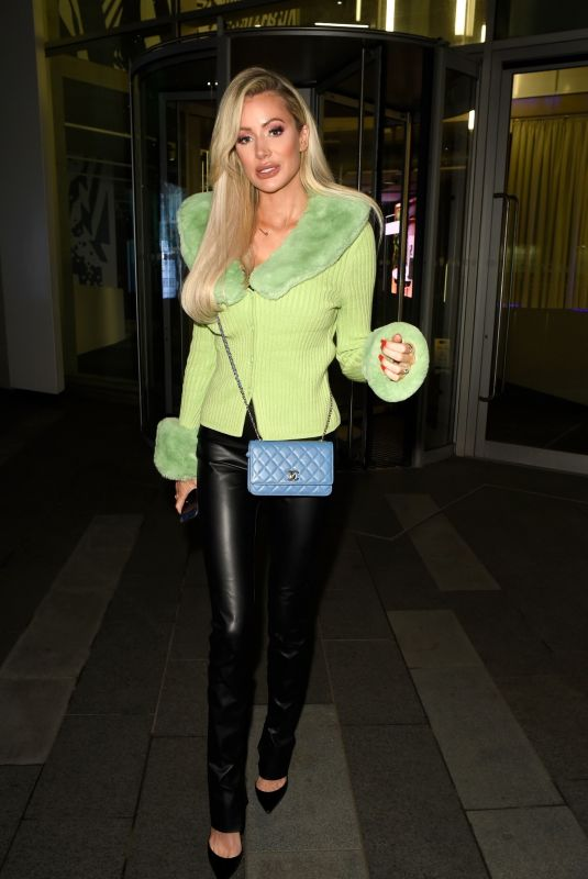 OLIVIA ATTWOOD Leaves XYZ Bar in Manchester 11/04/2020