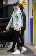 OLIVIA ATTWOOD on the Set of Olivia Meets Her Match in Manchester 11/08/2020