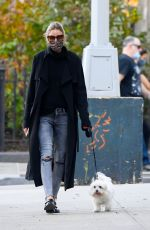 OLIVIA PALERMO in Ripped Denim Out with Mr. Butler in New York 11/10/2020