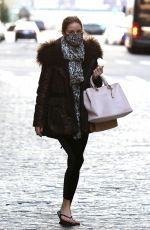 OLIVIA PALERMO Leaves Pedicure Salon in New York 11/17/2020