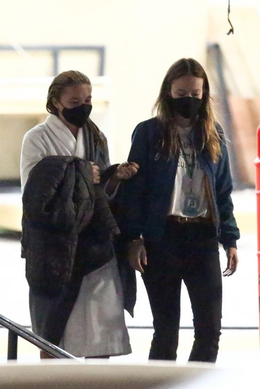 OLIVIA WILDE and FLORENCE PUGH on the Set of Don't Worry Darling in Los Angeles 11/25/2020
