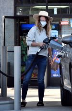 OLIVIA WILDE at a Gas Station in Los Angeles 11/17/2020