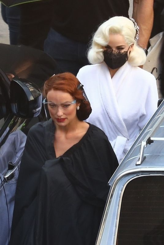 OLIVIA WILDE, DITA VON TEESE and Harry Styles on the Set of Don't Worry Darling in Los Angeles 11/03/2020
