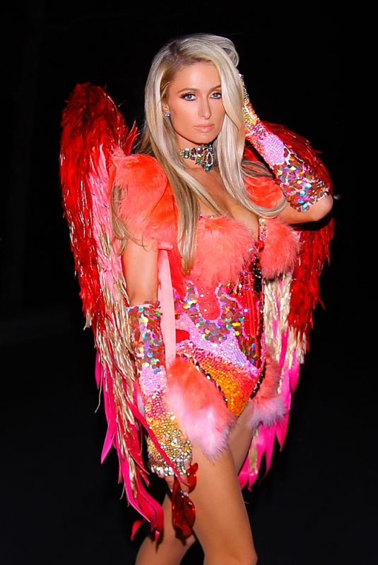 PARIS HILTON Heading to a Halloween Party in Los Angeles 10/30/2020