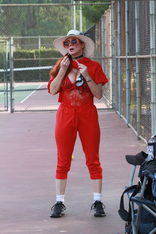 PHOEBE PRICE at a Tennis Courts in Los Angeles 11/13/2020