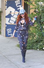 PHOEBE PRICE Out with Her Dog Henry in Hollywood 11/24/2020