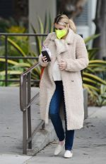 Pregnant EMMA ROBERTS Out for Morning Coffee in Los Angeles 11/23/2020