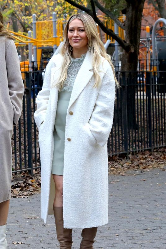 Pregnant HILARY DUFF on the Set of Younger in New York 11/17/2020