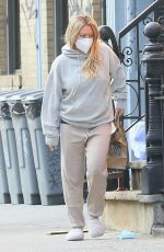 Pregnant HILARY DUFF Picking Up Delivered Food in New York 11/21/2020