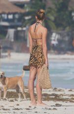 RACHEL HILBERT in Bikini at a Beach in Tulum 11/26/2020