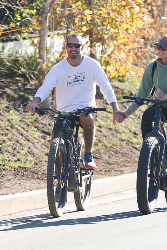 ROBIN WRIGHT and Clement Giraudet Out Bike Riding in Los Angeles 11/28/2020