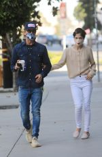 SELMA BLAIR and David Lyons Out for Coffee in Los Angeles 11/21/2020