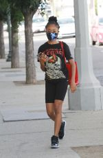 SKAI JACKSON Heading to DWTS Studio in Los Angeles 11/05/2020