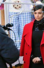 SOFIA CARSON Filming for Macy