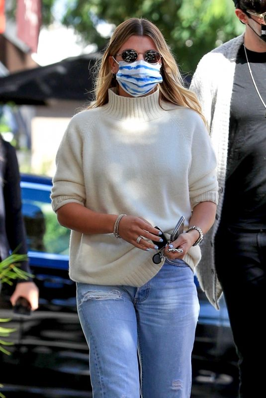 SOFIA RICHIE in Denim Out and About in Beverly Hills 11/13/2020