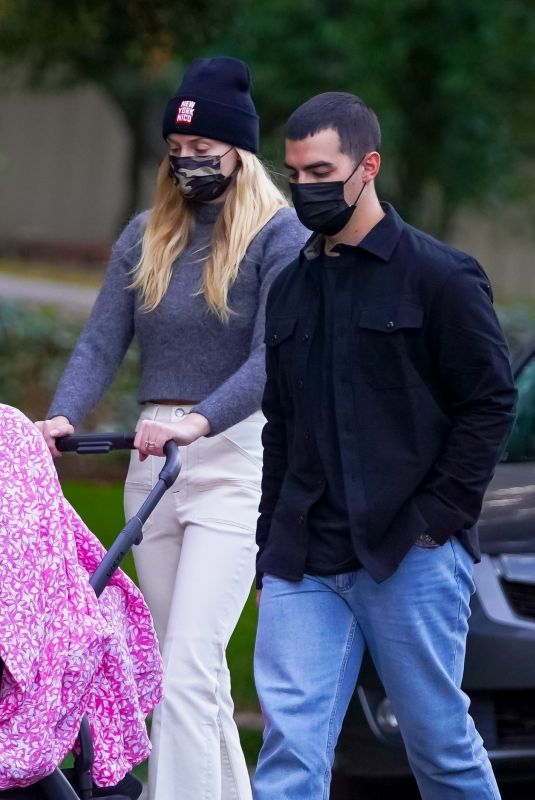 SOPHIE TURNER and Joe Jonas Out on Thanksgiving Day in Los Angeles 11/26/2020