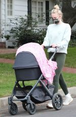 SOPHIE TURNER Out with Daughter Willa in Los Angeles 11/24/2020