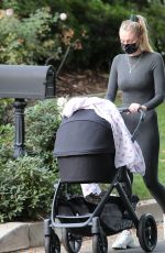 SOPHIE TURNER Out with Her Daughter in Los Angeles 11/16/2020