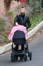 SOPHIE TURNER Out with Her Daughter in Los Angeles 11/23/2020