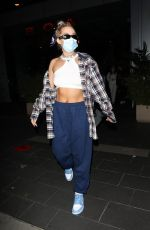 TANA MONGEAU Leaves Boa Steakhouse in Los Angeles 11/22/2020