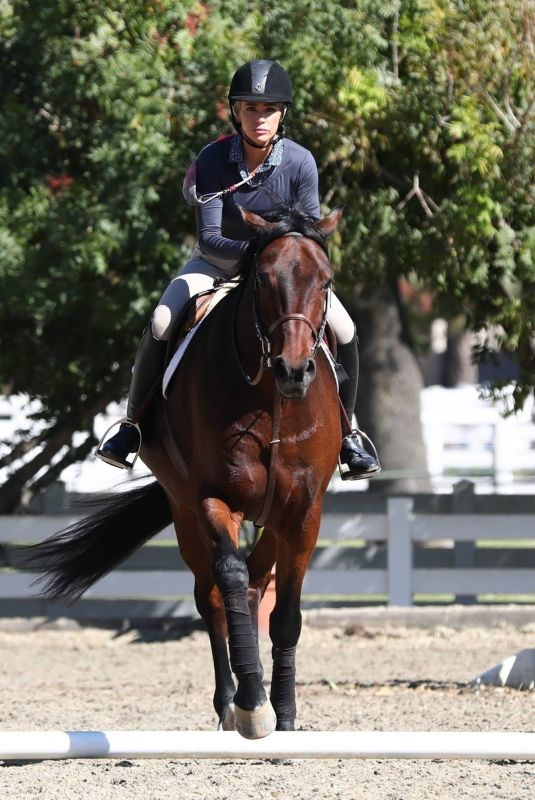 TEDDI JO MELLENCAMP at Horseback Riding at an Equestrian in Los Angeles 10/31/2020