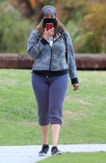 TYRA BANKS Out at a Park in Los Angeles 11/24/2020
