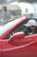 VANESSA HUDGENS Drives Her Ferrari Out in West Hollywood 11/23/2020