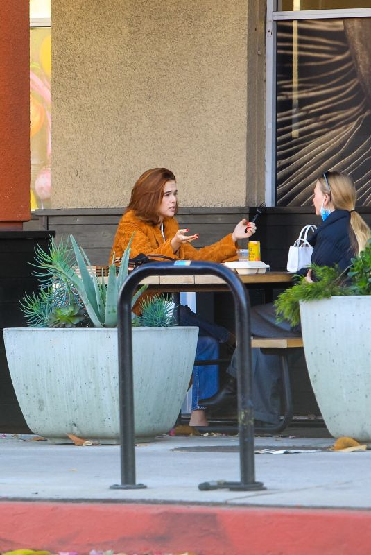 ZOEY DEUTCH Out for Coffe with a Friend in West Hollywood 11/08/2020