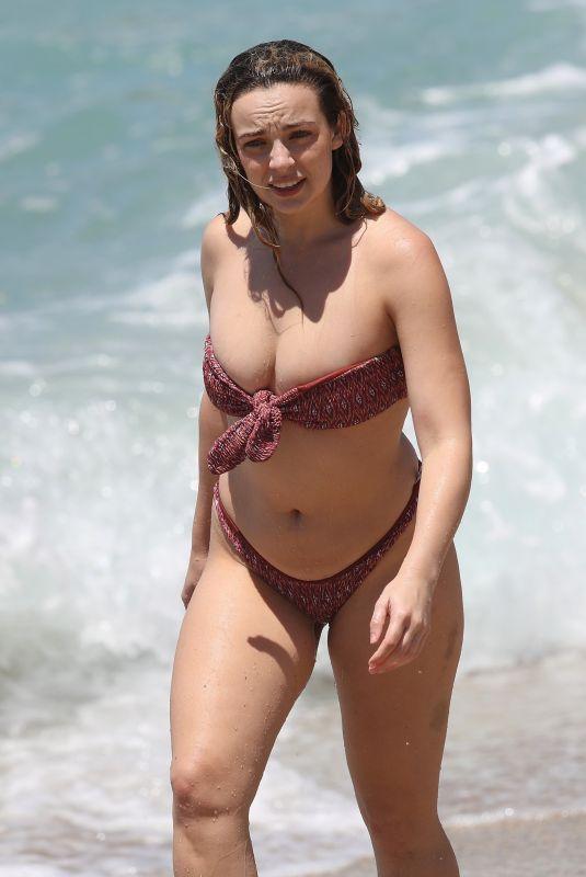 ABBIE CHATFIELD in Bikini at a Beach in Sydney 12/10/2020