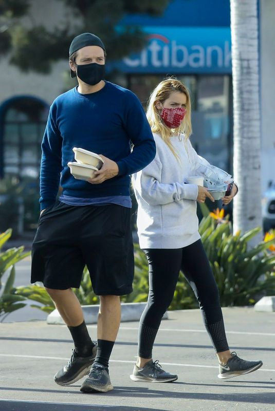 ALEJANDRA ONIEVA and Sebastian Stan Out at The Grove in Los Angeles 12/09/2020