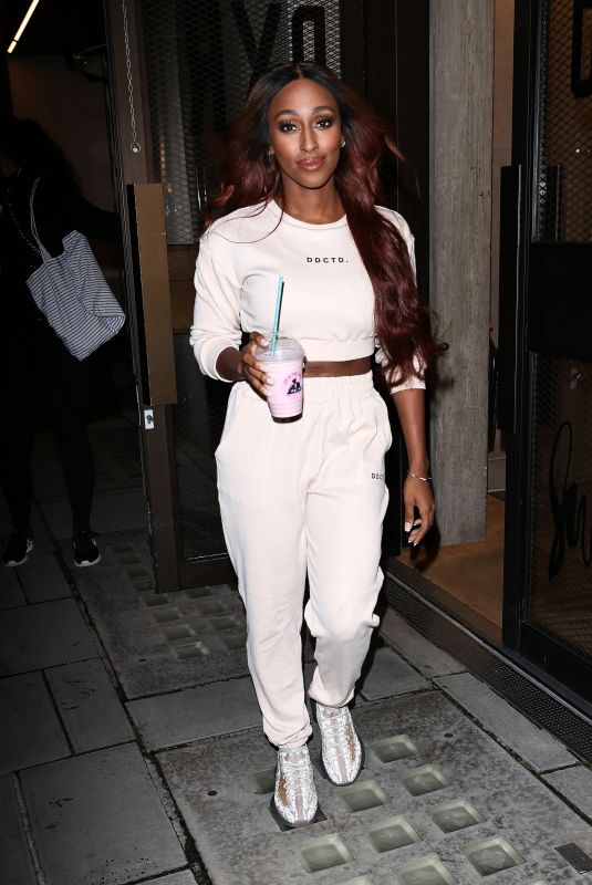 ALEXANDRA BURKE Leaves Anthony Joshua Gym in London 12/06/2020