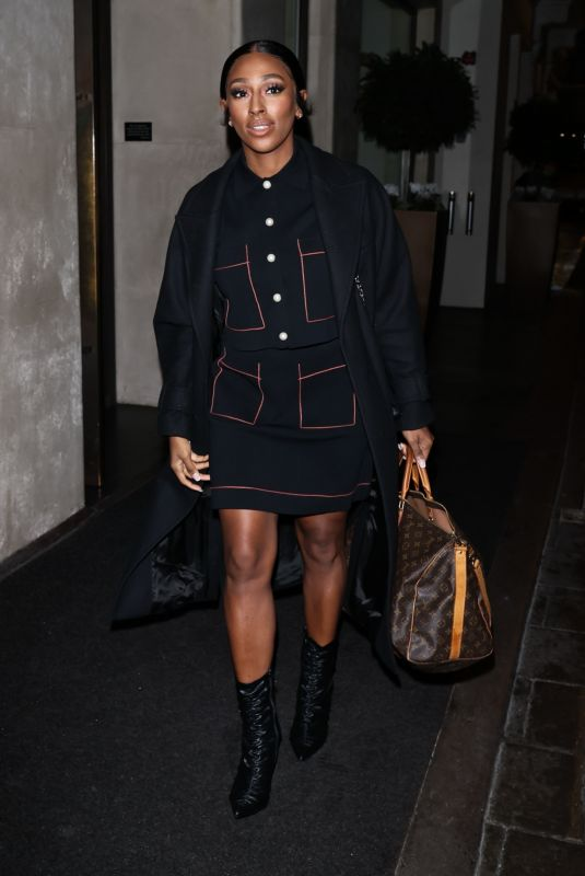 ALEXANDRA BURKE Leaves Morning Live in London 12/18/2020