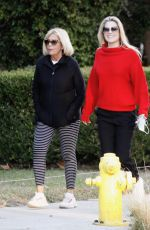 ALI LARTER Out with Her Mother in Santa Monica 12/25/2020