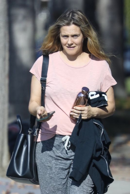 ALICIA SILVERSTONE Leaves a Gym in Los Angeles 12/22/2020