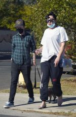 AMANDA BYNES Out with a Friend in Los Angeles 12/02/2020