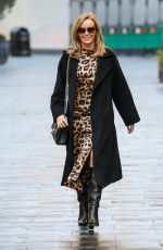 AMANDA HOLDEN in Laeopard Print Dress Out in London 12/01/2020