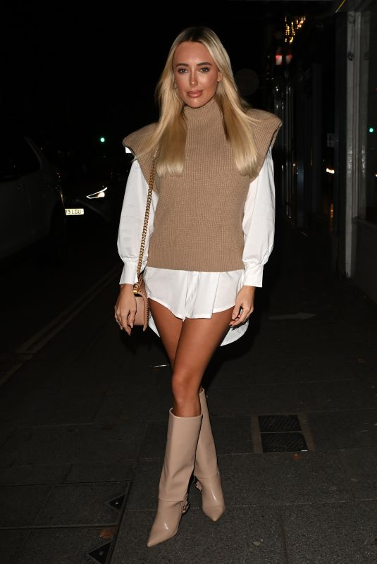 AMBER TURNER on the Set of The Only Way is Essex Christmas TV Show 12/13/2020