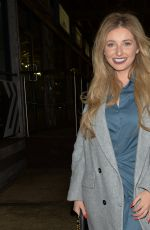 AMY HART Out for Dinner at 29 Restaurant in Battersea 12/12/2020