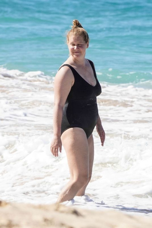 AMY SCHUMER in Swimsuit at a Beach in St. Barths 12/26/2020