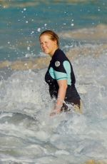 AMYSCHUMER in Wetsuit at a Beach in St. Barth 12/28/2020